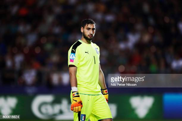 Gianluigi Donnarumma of Italy during the UEFA U21 championship match between Italy and Germany at Krakow Stadium on June 24 2017 in Krakow Poland