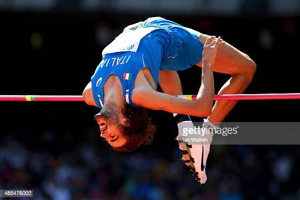 Gianmarco Tamberi of Italy competes in the Men's High Jump qualification during day seven of the 15th IAAF World Athletics Championships Beijing 2015...
