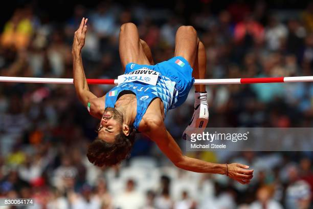 Gianmarco Tamberi of Italy competes in the Men's High Jump qualification during day eight of the 16th IAAF World Athletics Championships London 2017...