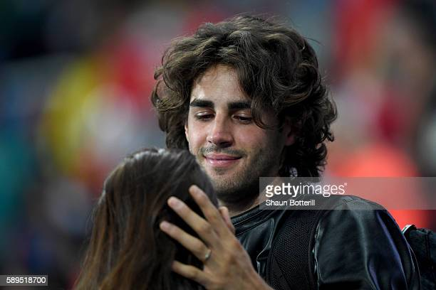Gianmarco Tamberi of Italy in the crowd on Day 9 of the Rio 2016 Olympic Games at the Olympic Stadium on August 14 2016 in Rio de Janeiro Brazil