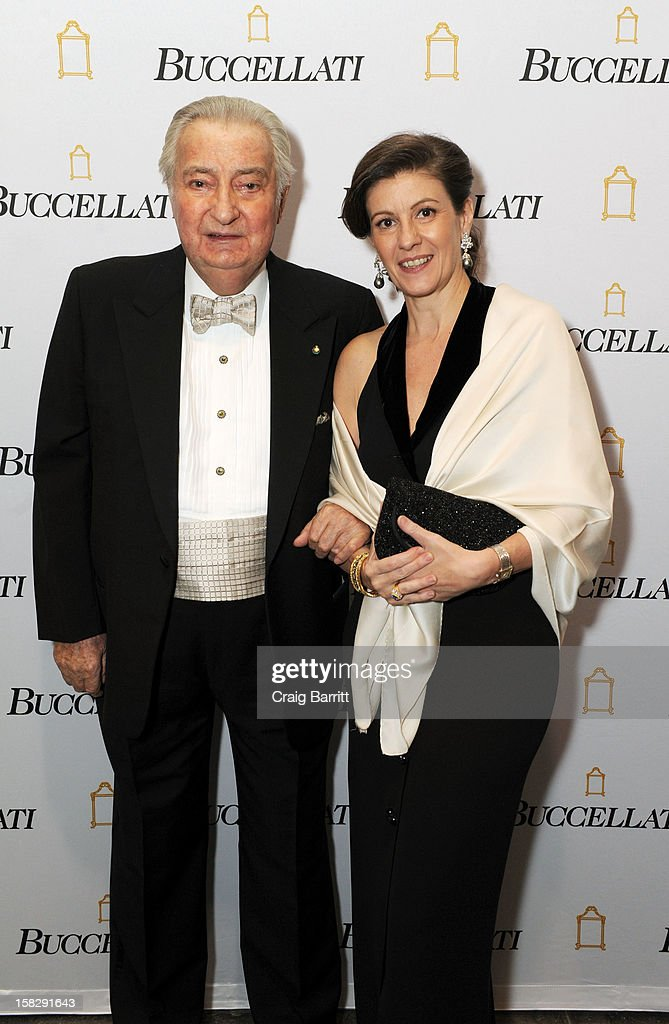 Gianmaria Buccellati and Rosie Buccellati attend the TPC for the 2012 La Fondazione La Notte Gala Celebrating 60 years Of Excellence In the USA For Buccellati at Industria Studios on December 12, 2012 in New York City.