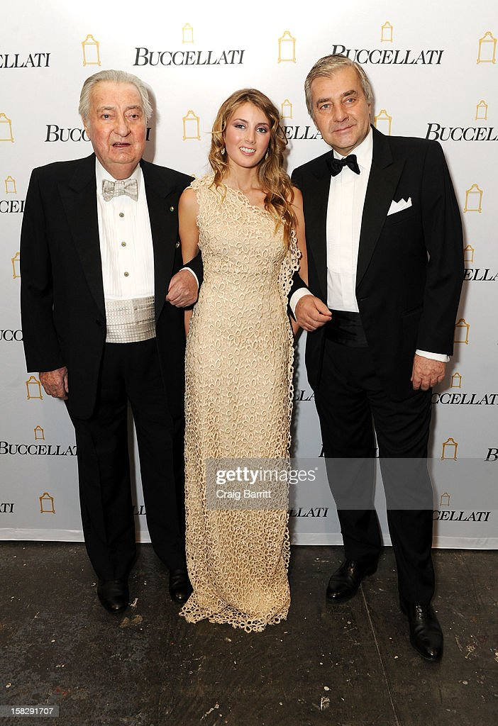 Gianmaria Buccellati, Lucrezia Buccellati and Andrea Buccellati attend the TPC for the 2012 La Fondazione La Notte Gala Celebrating 60 years Of Excellence In the USA For Buccellati at Industria Studios on December 12, 2012 in New York City.