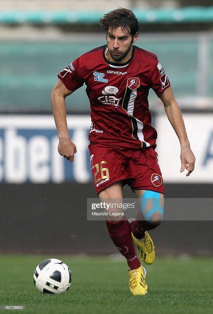 Gianmario Comi of Reggina during the Serie B match between Reggina Calcio and Calcio Padova on February 16, 2013 in Reggio Calabria, Italy.