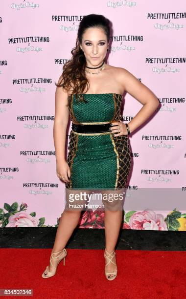 Gianna Martello attends PrettyLittleThing X Olivia Culpo Launch at Liaison Lounge on August 17 2017 in Los Angeles California