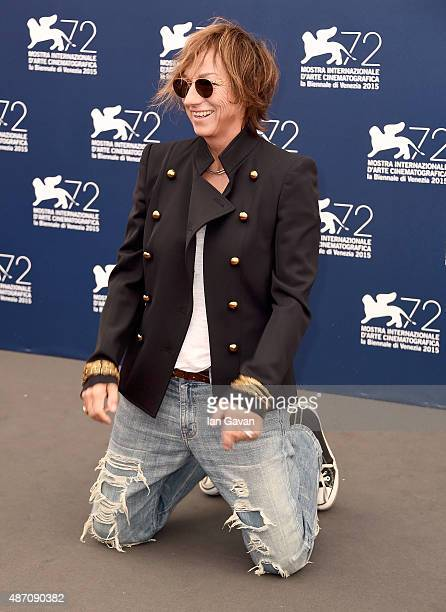 Gianna Nannini attends a photocall for 'Janis' during the 72nd Venice Film Festival at Palazzo del Casino on September 6 2015 in Venice Italy