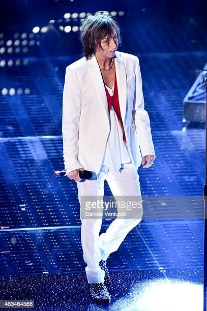 Gianna Nannini attends the closing night of 65th Festival di Sanremo 2015 at Teatro Ariston on February 14 2015 in Sanremo Italy