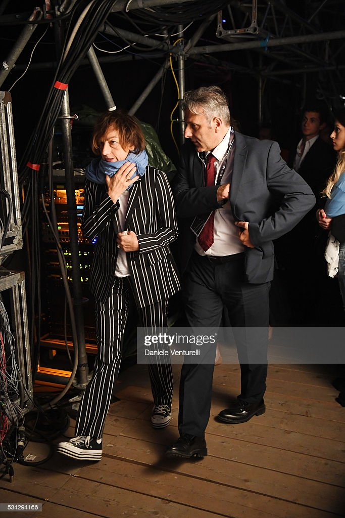 <a gi-track='captionPersonalityLinkClicked' href=/galleries/search?phrase=Gianna+Nannini&family=editorial&specificpeople=635060 ng-click='$event.stopPropagation()'>Gianna Nannini</a> is seen backstage ahead of Bocelli and Zanetti Night on May 25, 2016 in Rho, Italy.