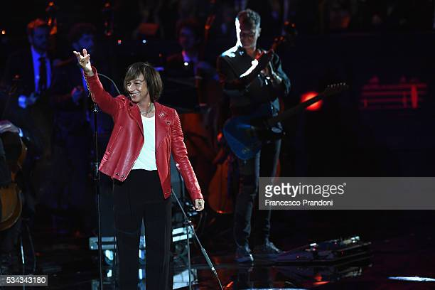 Gianna Nannini performs at Bocelli and Zanetti Night on May 25 2016 in Rho Italy