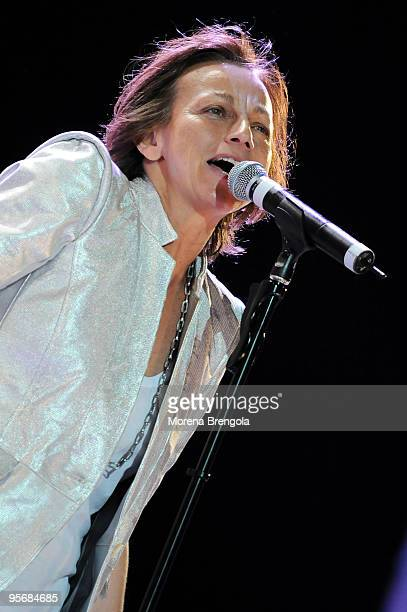 Gianna Nannini performs at the Arena of Verona during the Wind Music Awards on June 6 2009 in Verona Italy