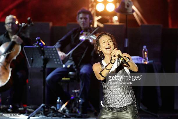 Gianna Nannini performs on the first date of her LIVE dell'Opera 'Pia de' Tolomei' tour at the Mandela Forum on September 13 2007 in Florence Italy