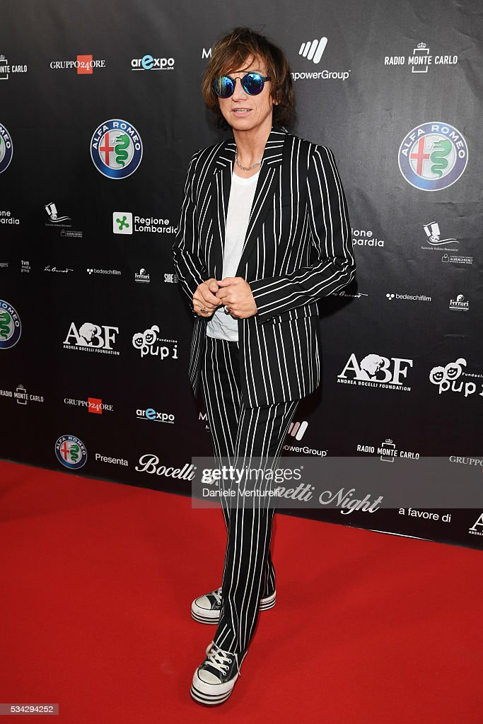 Gianna Nannini walks the red carpet of Bocelli and Zanetti Night on May 25, 2016 in Rho, Italy.
