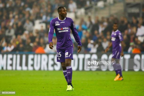 Giannelli Imbula of Toulouse during the Ligue 1 match between Olympique Marseille and Toulouse at Stade Velodrome on September 24 2017 in Marseille...