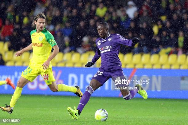 Giannelli Imbula of Toulouse during the Ligue 1 match between Nantes and Toulouse at Stade de la Beaujoire on November 4 2017 in Nantes