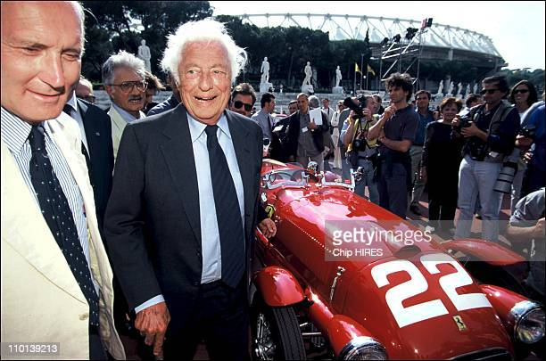 Gianni Agnelli at the fiftieth birthday of Ferrari in Rome Italy on June 01 1997