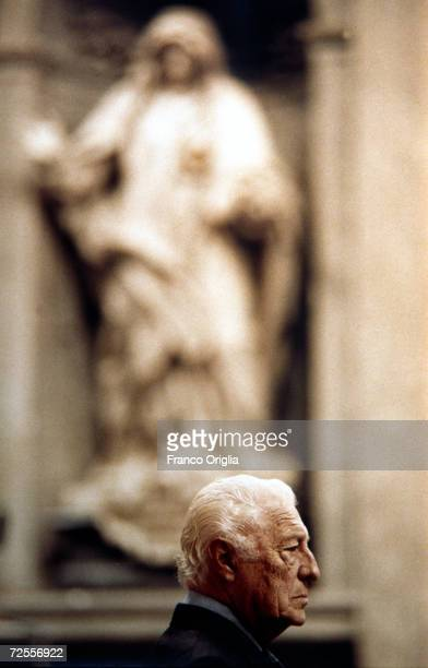 Gianni Agnelli stands during a Christmas Mass in St Peter's Basilica December 251997 in Vatican City The patriarch of Italian industry and dynastic...