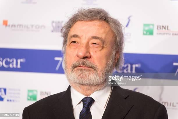 Gianni Amelio attends the photocall for 'Nastri d'Argento Serata 70 da Oscar'