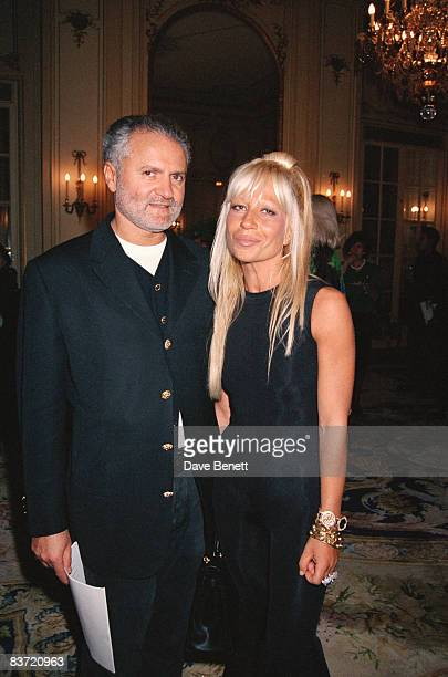 Gianni and Donatella Versace at a Versace fashion show in Paris 23rd January 1993