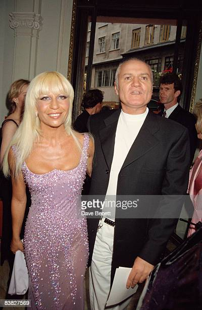 Gianni and Donatella Versace at the Gianni Versace 'Men Without Ties' launch party in London 14th June 1995