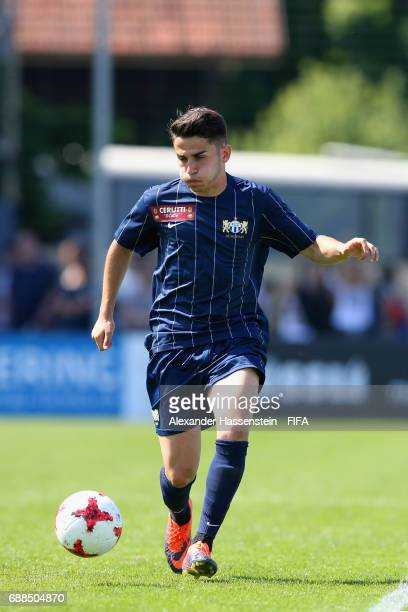 Gianni Antoniazzi of FC Zuerich runs with the ball duirng day two of the Blue Stars/FIFA Youth Cup 2017 at the Buchlern sports complex on May 25 2017...