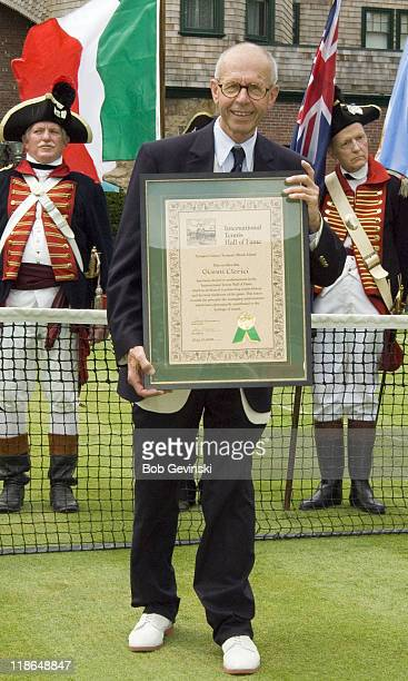 Gianni Clerici during the 2006 International Tennis Hall of Fame Induction on Saturday July 15 2006 in Newport Rhode Island This year's inductees...