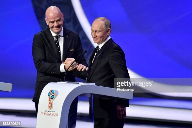 Gianni Infantino president of the FIFA and president of Russia Vladimir Poetin pictured during the FIFA World Cup Russia 2018 Final Draw in the State...