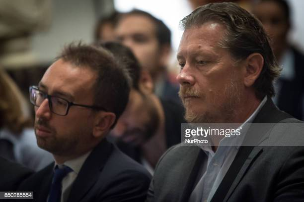 Gianni LemmettiBonafede Alfonso during a press conference to present plans to reorganise investee companies on September 20 2017 in Rome Italy The...