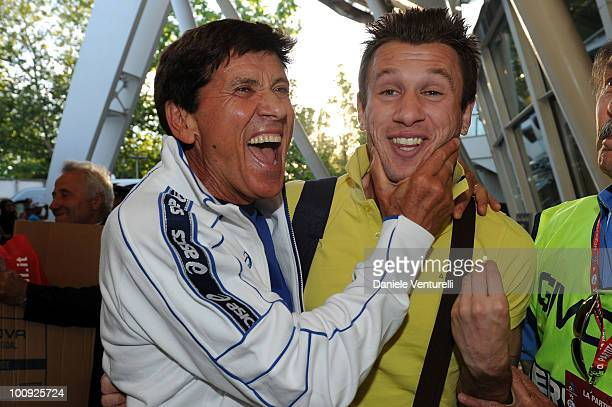 ACCESS** Gianni Morandi and Antonio Cassano attend the XIX Partita Del Cuore charity football game at on May 25 2010 in Modena Italy