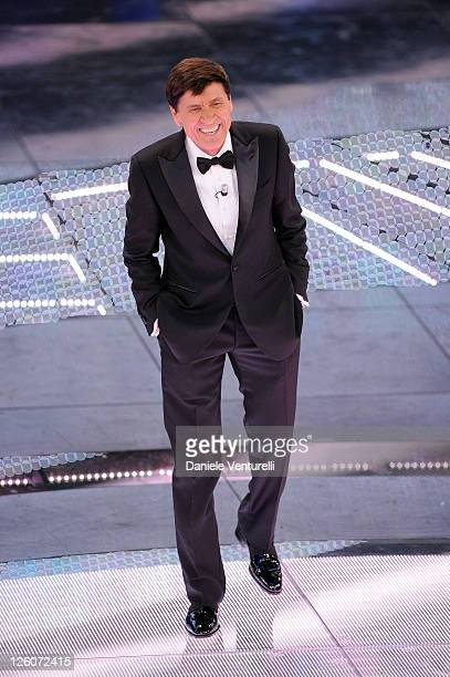 Gianni Morandi attends the 61th Sanremo Song Festival at the Ariston Theatre on February 17 2011 in San Remo Italy