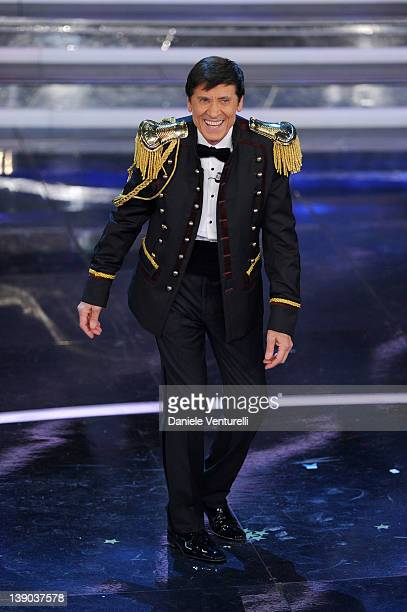 Gianni Morandi attends the second day of the 62th Sanremo Song Festival at the Ariston Theatre on February 15 2012 in San Remo Italy