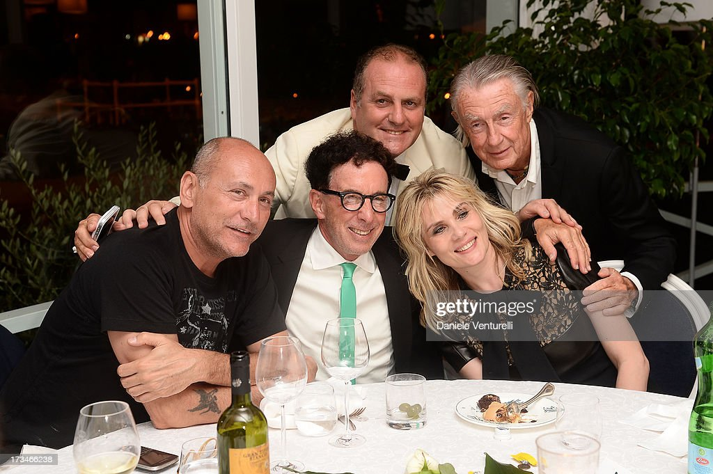 Gianni Nunnari, Mark Canton, Emmanuelle Seigner, Pascal Vicedomini and Joel Schumacher attend Day 2 of the 2013 Ischia Global Fest on July 14, 2013 in Ischia, Italy.