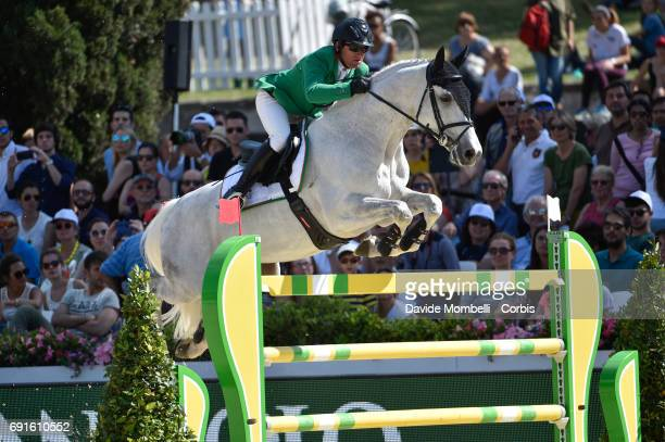 Gianni of Italy riding Larbraker during the Piazza di Siena Bank Intesa Sanpaolo in the Villa Borghese on May 27 2017 in Rome Italy