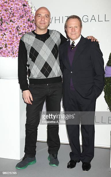 Gianni Simioli and Sergio Valente attend 'L'Arte Nell'Uovo Di Pasqua' Charity Event at the White Gallery on March 24 2010 in Rome Italy