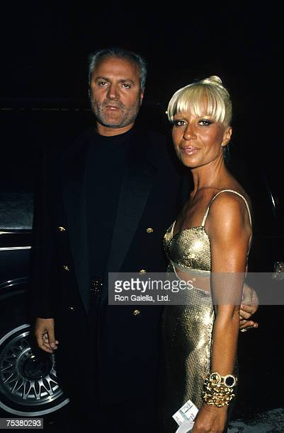 Gianni Versace and Donnatella Versace