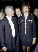 Gianni Versace and Janice Dickinson