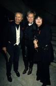 Gianni Versace Elton John and Anna Sui at the New York State Theater Lincoln Center in New York City New York