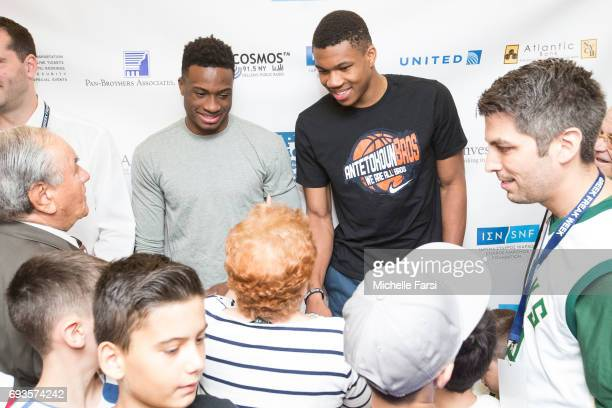 Giannis Antetokounmpo and Thanasis Antetokounmpo host a 'Greek Freak Week' basketball clinic at Adelphi University featuring a lineup of former and...