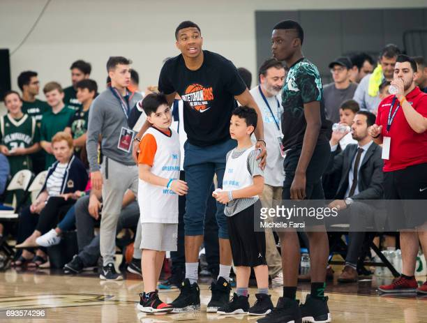 Giannis Antetokounmpo hosts a 'Greek Freak Week' basketball clinic at Adelphi University featuring a lineup of former and current basketball stars...
