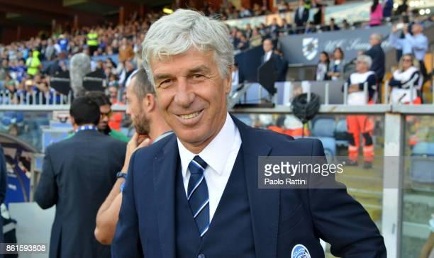 Gianpaolo Gasperini head coach of Atalanta during the Serie A match between UC Sampdoria and Atalanta BC at Stadio Luigi Ferraris on October 15 2017...