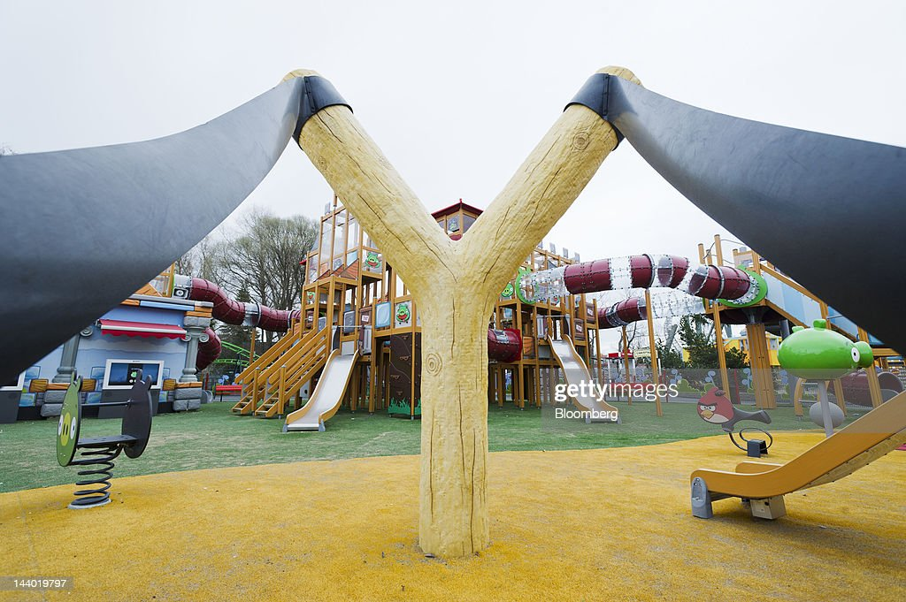 A giant catapult stands in the Angry Birds-themed games area of Angry Birds Land, an activity center within the Sarkanniemi adventure park near Tampere, Finland, on Friday, May 4, 2012. Rovio Entertainment Oy reported FY sales of EU75.4m. Photographer: Juho Kuva/Bloomberg via Getty Images