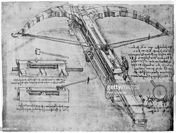 Giant crossbow 14801485 Codex Atlanticus 53vb A print from Leonardo da Vinci by Ludwig H Heydenreich