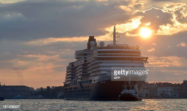 A giant cruiseship arrives in Venice on September 21 2013 The 'No Big Ships' comittee is to stage a canalbank protest on September 21 ver an invasion...