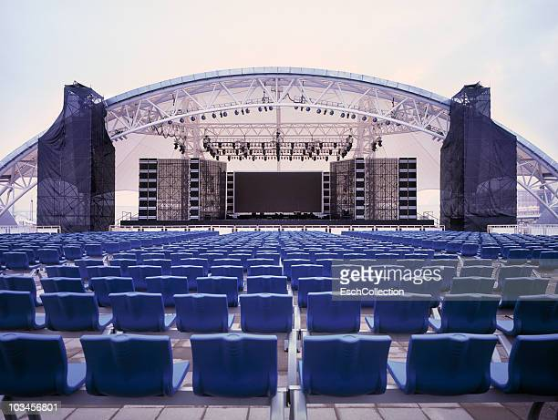 Giant empty concert stage, Shanghai, China
