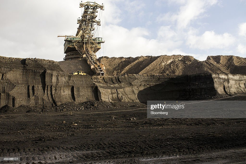 A giant excavator collects lignite, also known as brown coal, from the open pit mine operated by Czech Coal AS near the town of Horni Jiretin, Czech Republic, on Friday, Dec. 6, 2013. The government may set up a joint company with Severni Energeticka that will seek lifting current environmental limits on lignite mining, Lidove Noviny reports, citing proposal submitted by Industry and Trade Ministry. Photographer: Bartek Sadowski/Bloomberg via Getty Images