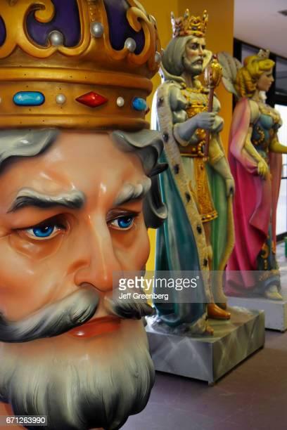 Giant figures at Mardi Gras World