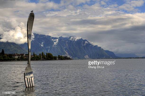 Giant fork in Vevey
