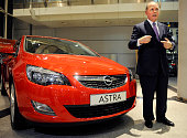US giant General Motors CEO Fritz Henderson poses next to an Opel Astra car after giving an interview on November 10 2009 at the Opel plant in...