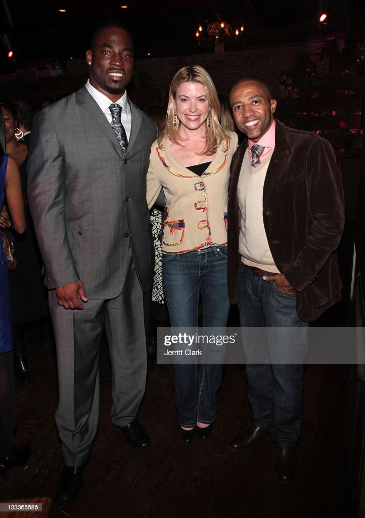 NY Giant Justin Tuck New Yorkers for Childrens Amy McFarland and Kevin Liles Evp of Warner Music Group attend Tuck's RUSH for Literacy inaugural year...