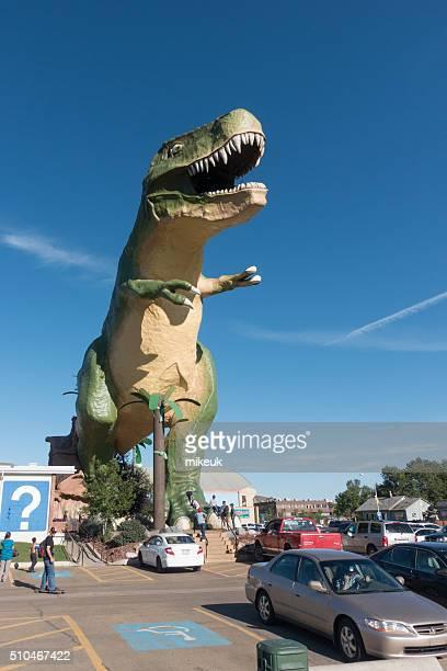 giant model of a Tyrannosaurus Rex Drumheller Canada