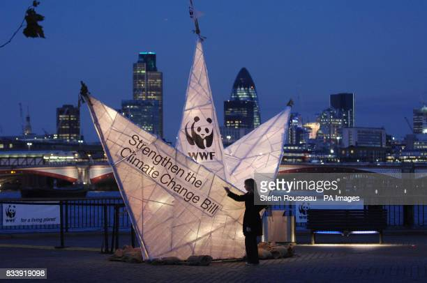 A giant paper boat goes on show on London's South Bank on the day the Climate Change Bill is published Members of the public will be invited to sign...