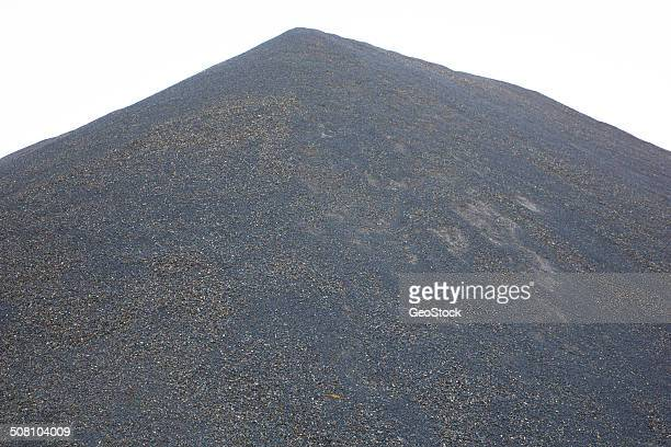 A giant pile of crushed rock